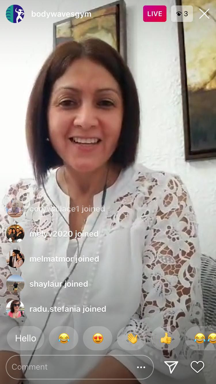 Amar facilitating an 'Instagram LIVE' session for Royal Caribbean employees